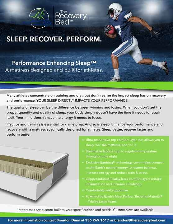 The Recovery Bed is going places!  NFL  Training camps and endless possibilities to come!  Thanks for entrusting me with...