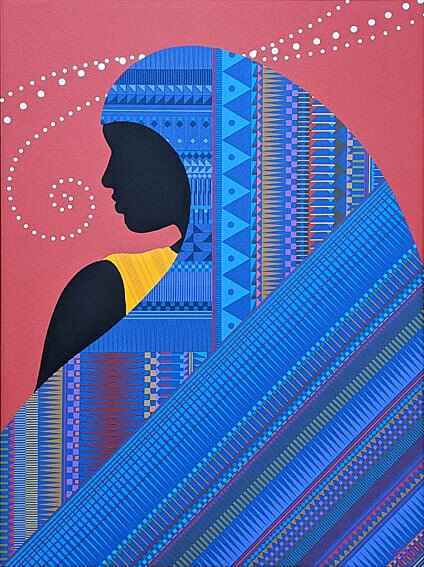 """We love this painting """"Blue Hair Woman"""", by Japanese artist Tetsuji Yamash*ta!Come visit the Gallery to see more of his ..."""