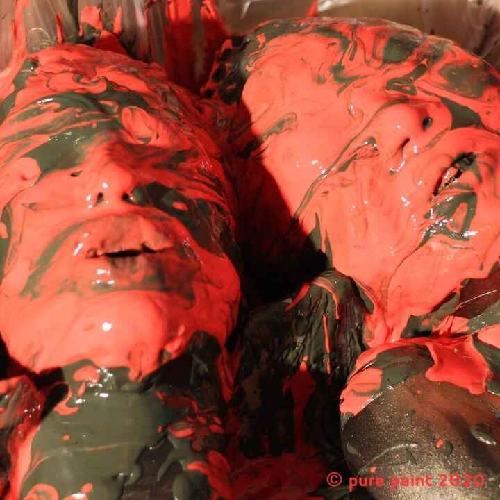 'way too much'.daring models drowning in clay and fingerpaint(the fingerpaint comes with a disgusting bitter taste to pr...