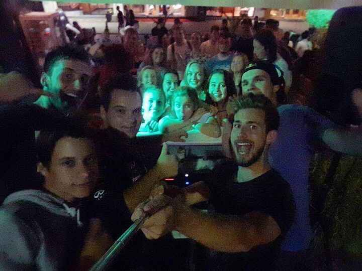 Blurry selfie..but not as blurry as the last night's memory :P We make Bled party even on Sundays!!! Join as today on Bl...