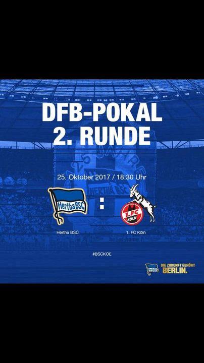 ⚽️⚽️⚽️ DFB Pokal Part 2 ⚽️⚽️⚽️ Wir zeigen heute Abend ab 18:30 Uhr unsere Hertha aus Berlin vs FC Köln danach das Topspi...